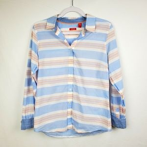 IZOD Long Sleeve Striped Button Down Shirt